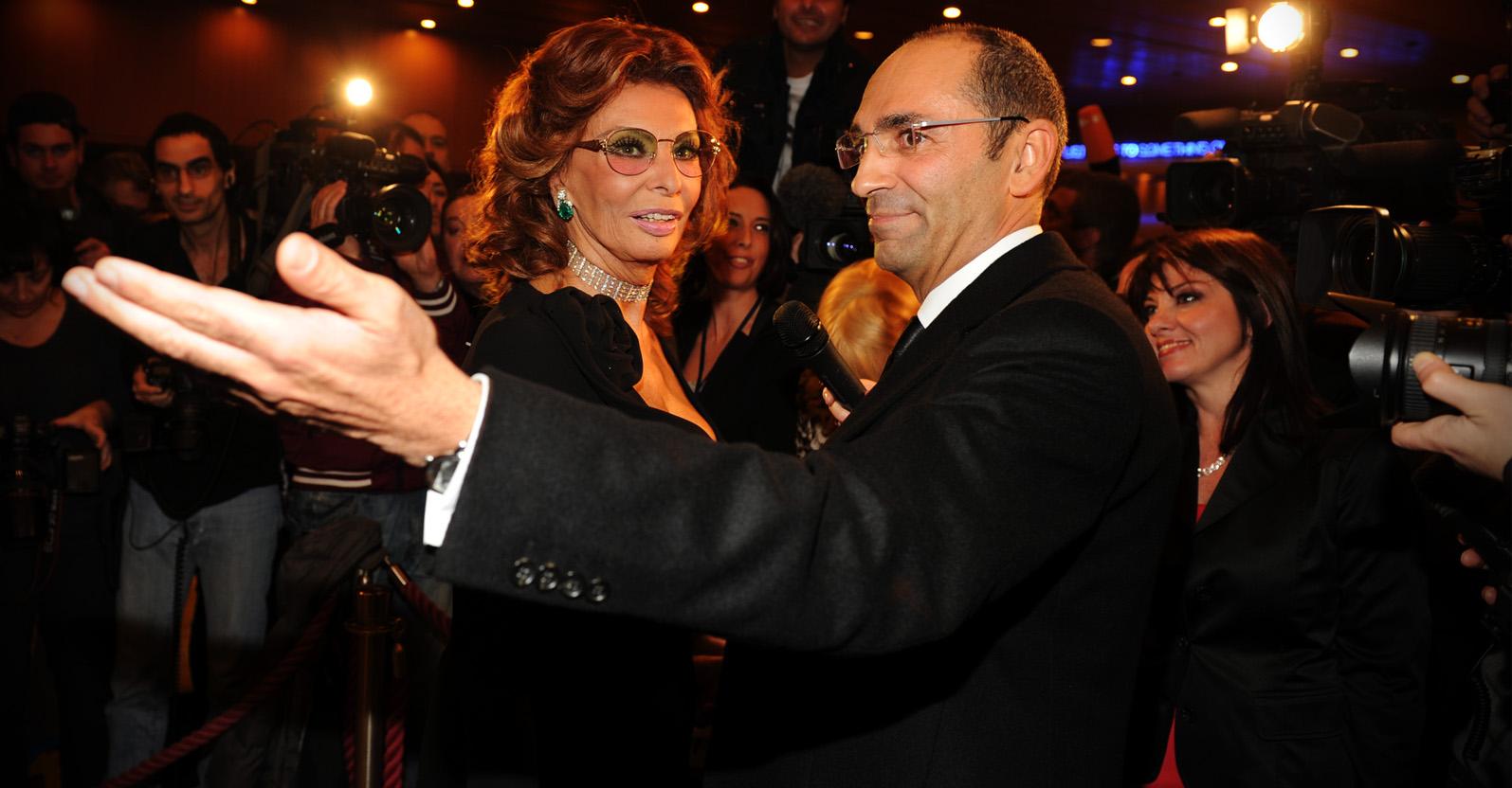 Massimo Leonardelli con Sofia Loren